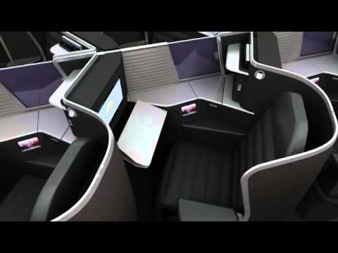 Virgin Australia Business Class, cabin design by tangerine