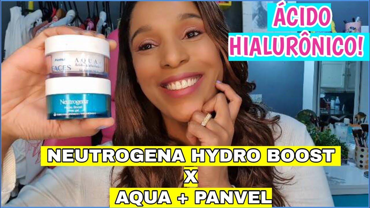 Hidratante Facial Neutrogena Hydro Boost x Hidratante Aqua + da Panvel   Ácido Hialurônico