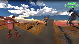 DANCE BATTLE of FRIENDS / Coffin Dance / VR VIDEO 360°