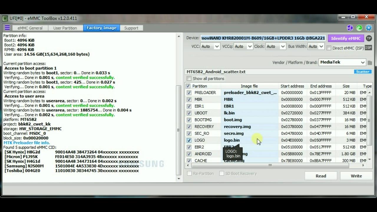 TUTORIAL WRITE EMMC KMR82 VIVO Y28 BY UFI