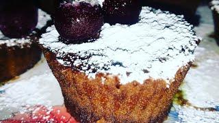 Шоколадные кексы в микроволновке за 5 мин. Готовит Яна 10 лет #кекс#выпечка#микроволновка