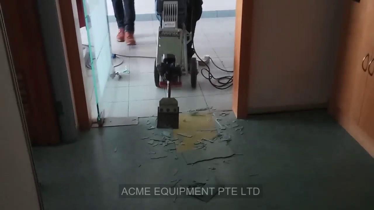 Tile demolitionvinyl removal equipment carpet removal tool youtube tile demolitionvinyl removal equipment carpet removal tool dailygadgetfo Images