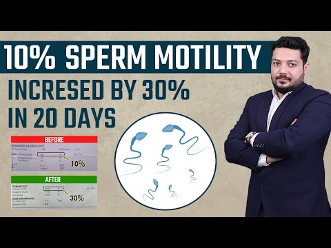 10% Sperm Motility increased by 30% in 20 days