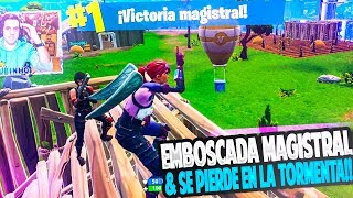 EMBOSCADA MAGISTRAL & SE PIERDE en la TORMENTA!! | FORTNITE: Battle Royale | Rubinho vlc