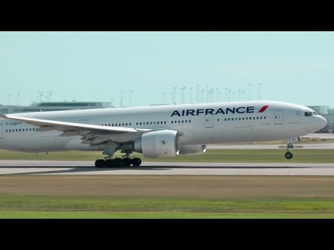 Air France Boeing 777-200ER Takeoff from Vancouver YVR