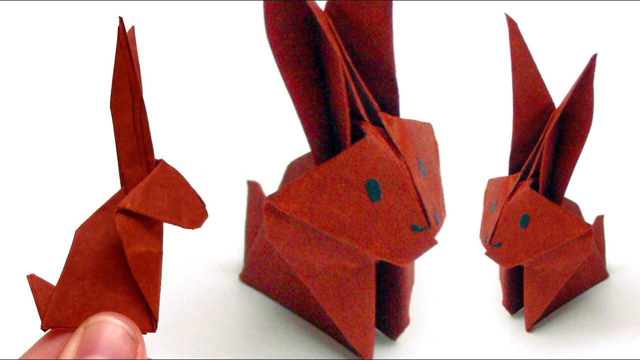 Gut bekannt Origami Tiere falten - #06 Hase (Bunny) - YouTube YA47