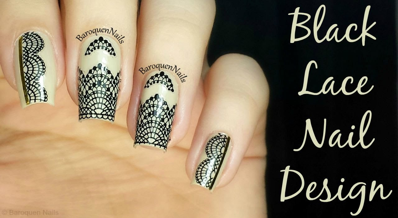 NAIL ART TUTORIAL - Elegant Lace Nail Design | Easy Nail ...