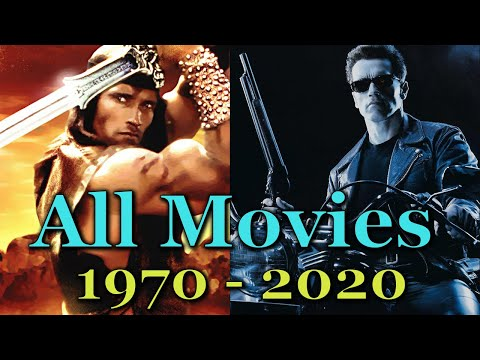 Arnold Schwarzenegger All Movies 1970 - 2020