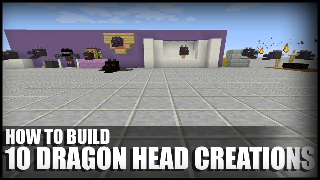 10 Ways To Use Dragon Heads In Minecraft Youtube