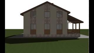 Дом из пеноблока проект ПБ-148(Проекты домов из пеноблока, видео презентация, 3д модель дома пб-148. Общая площадь: 167 Жилая площадь: 95 Площад..., 2015-06-26T16:11:08.000Z)
