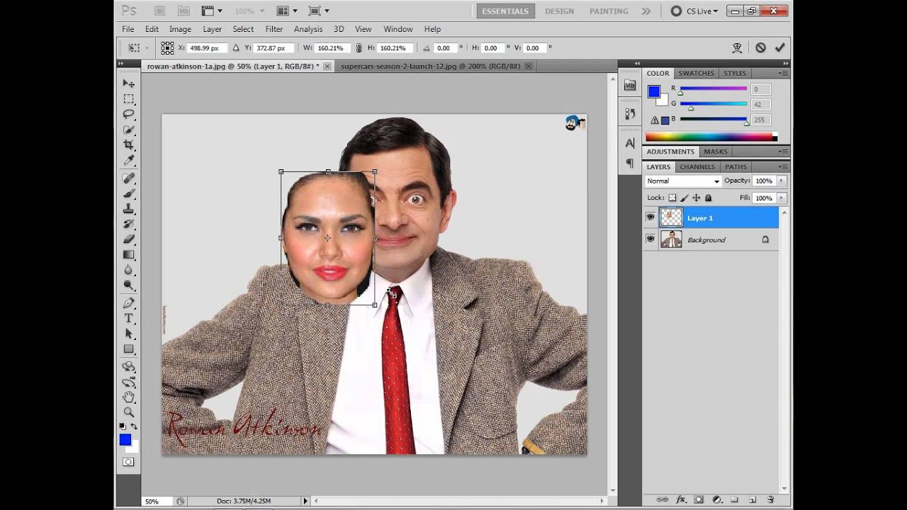 how to change / replace face in adobe Photoshop cs5 cs4 cs6 cs3 7 0 and all