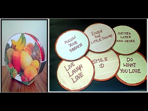 DIY CD quote coasters ||CD craft ideas || Best of waste from CD