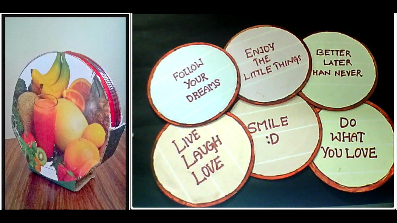 Diy cd quote coasters cd craft ideas best of waste for Waste cd craft ideas