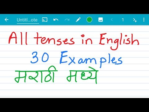 All 12 tenses in english with examples in Marathi /मराठी