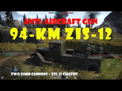 94-KM on the ZiS-12 Chassis SPAA on Carpathians - War Thunder
