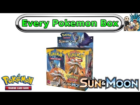 Opening Every Pokemon Box: Sun & Moon