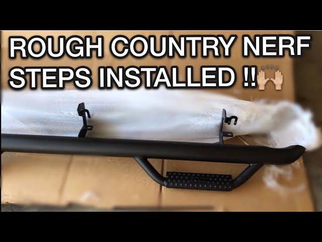 How To Install Rough Country Nerf Side Steps!!! (2017 Silverado Crew Cab)