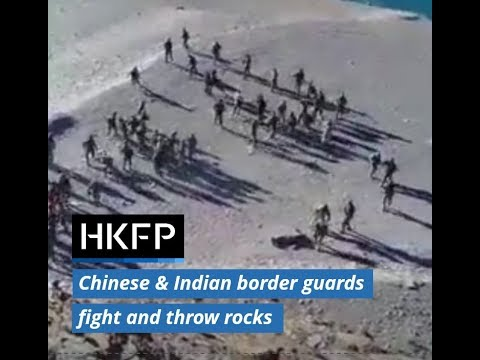 Footage of Indian and Chinese border guards fighting confirmed as genuine by Indian authorities