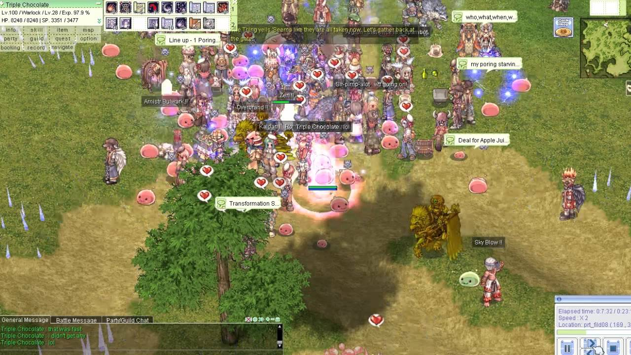 International Ragnarok Online - Poring Party @ South Prontera Field  (12/11/13) by extremecriticism