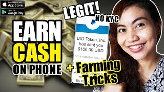 EARN CASH ON YOUR PHONE | w/ FARMING TRICKS | FOR STUDENTS | NO KYC | BIGToken