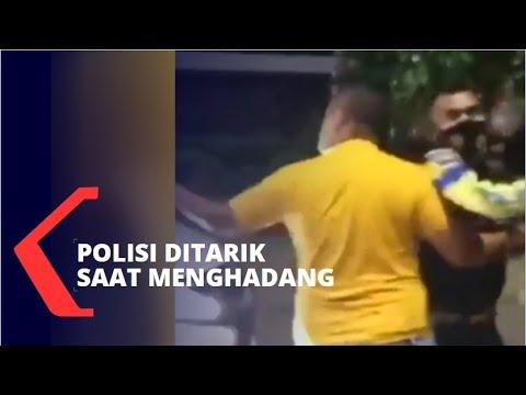 Download Viral Mobil Terobos Pos Penyekatan PPKM Darurat di Karawang, Polisi Ditarik Saat Menghadang