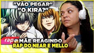MINHA MÃE REAGINDO AO Rap do Near e Mello (Death Note) - O SUCESSOR DO L | NERD HITS | 7 Minutoz