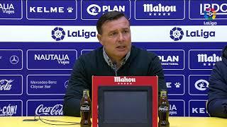 Rueda de prensa de Cristóbal Parralo tras el AD Alcorcón vs Albacete BP (0-1)