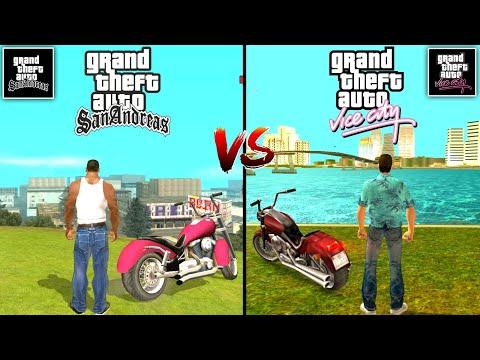 GTA Vice City Mobile Vs GTA San Andreas Mobile Comparison. Which One Is Best? | GTA Games Comparison