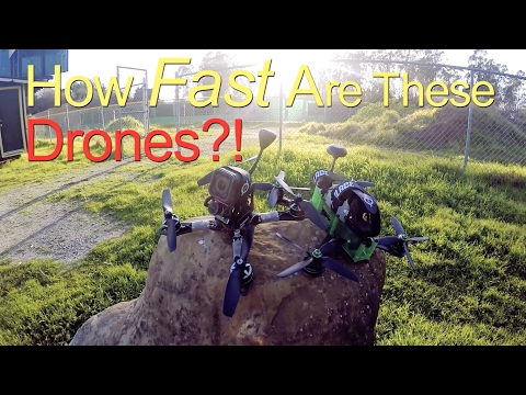 Speed Testing Drones on The Track