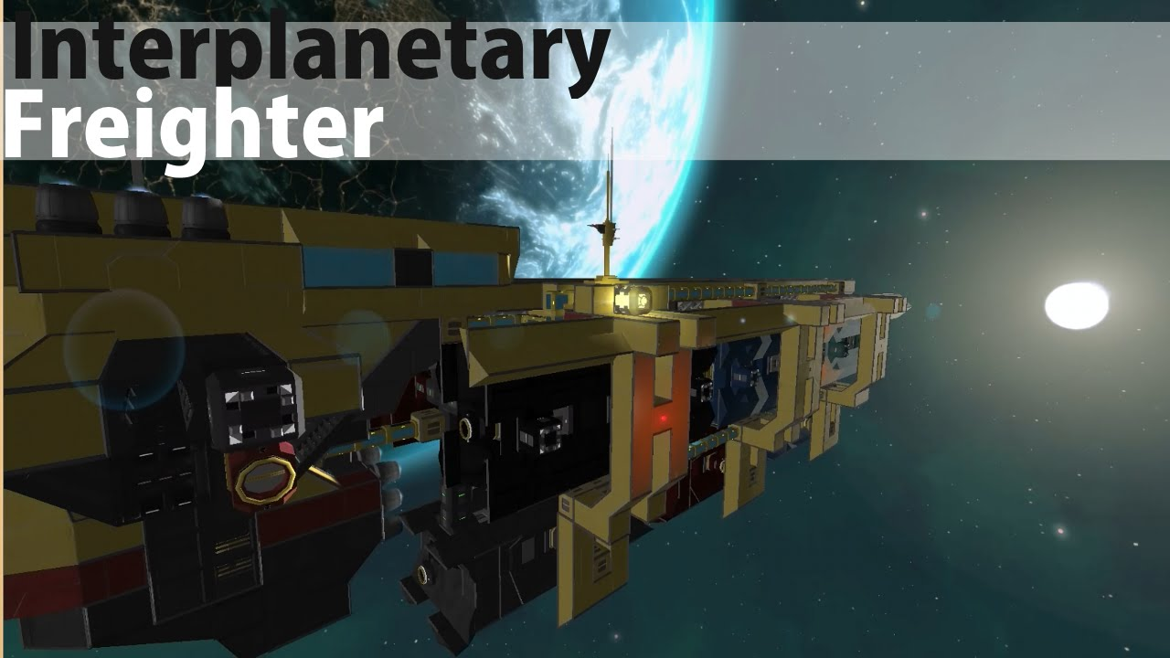 Interplanetary Freighter Showcase Space Engineers Youtube