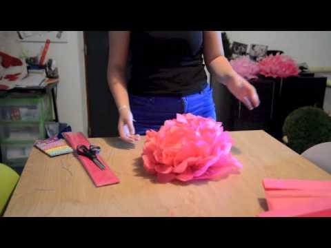 tuto : réaliser des pompons en papier de soi - youtube
