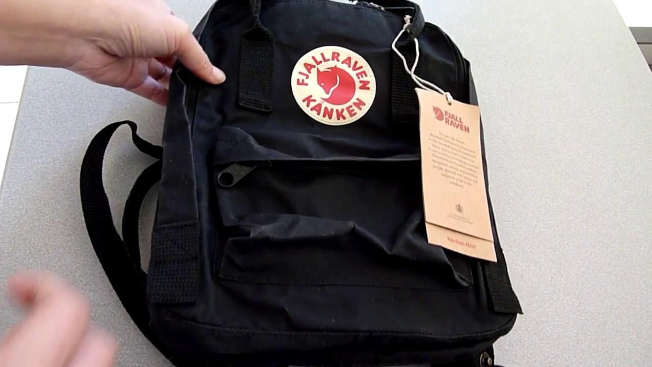 All Black Kanken Backpack Fjallraven No2 Full