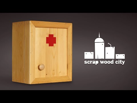 How to make a wooden first aid cabinet - DIY