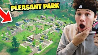 I ONLY LANDED AT PLEASANT PARK AND THIS HAPPENED... Fortnite Battle Royale