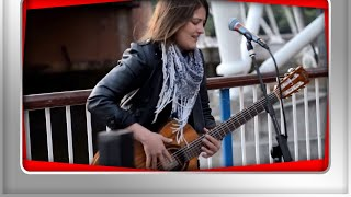 Feeling Good (bass guitar style) - Street Performer Susana Silva feelin' good