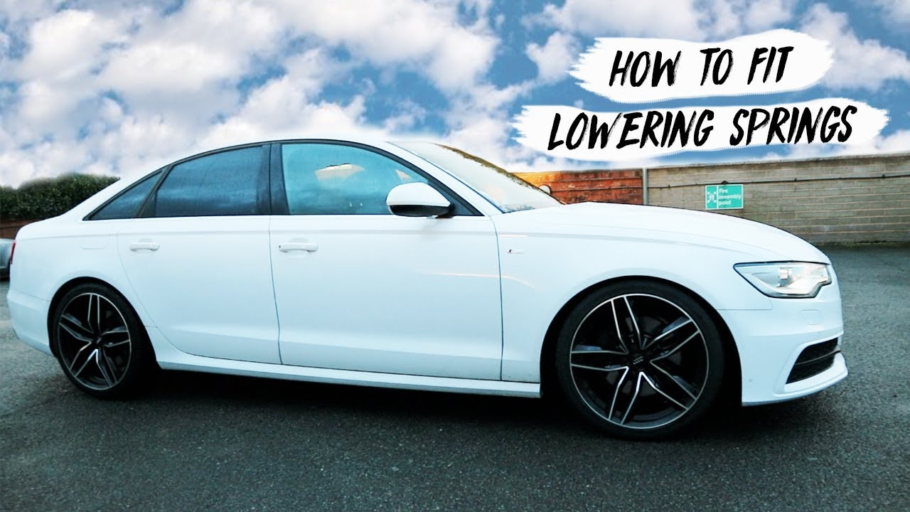 How To Diy Lower Audi A6 C7 Quattro Hr Springs Youtube