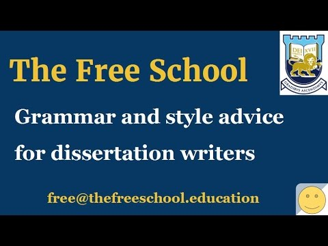 PhD thesis writing style and grammar tips