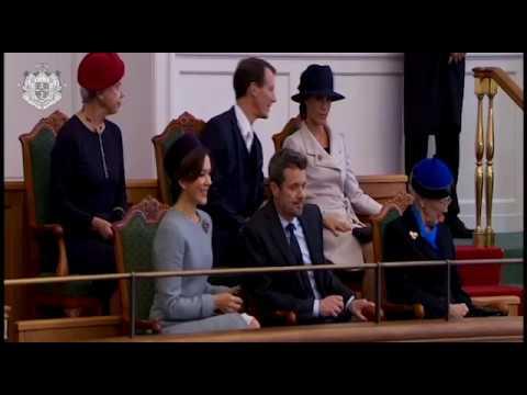 Den kongelige familie ved Folketingets åbning 2017