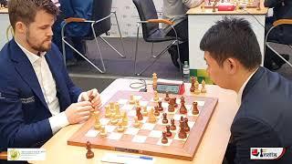 Magnus plays the London System | Carlsen vs Wang Hao | World Rapid 2019