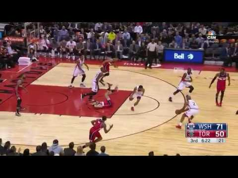 John Wall drills Marcin Gortat in FACE | Wizards vs Raptors 3.1.17 | 16-17 NBA Season