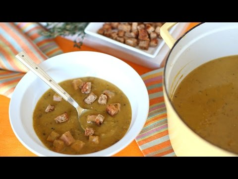 Split Pea Soup With Ham And Croutons - Everyday Food With Sarah Carey