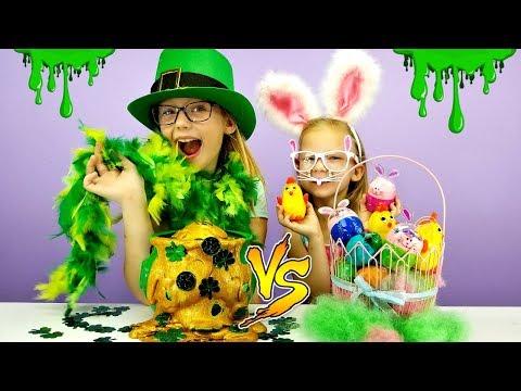 EASTER Slime vs St. PATRICK'S DAY Slime Challenge!!!