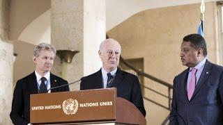 الاستعداد للمحادثات السياسية السورية وجهود للوصول إلى عشرات الآلاف بالمساعدات