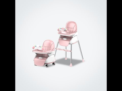Mamaland 3-in-1 Multifunction Adjustable Booster Dining Baby Feeding Leatherette Cover High Chair
