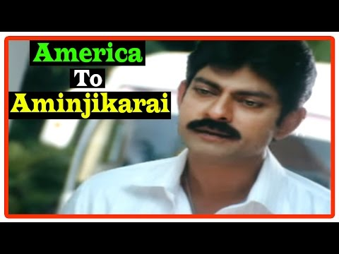 America To Aminjikarai Tamil Movie | Scenes | Jagapati Babu And Bhumika Become Friends