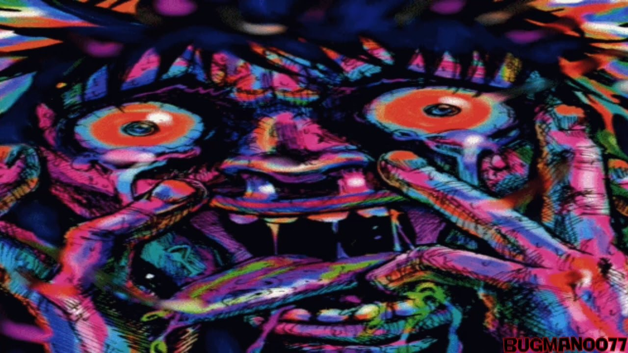 Lsd Trip Wallpaper Hd Trippy Visual 1 Scary Face Youtube