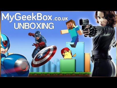 MyGeekBox Aug 2016 Unboxing POKEMON MEGAMAN and more...