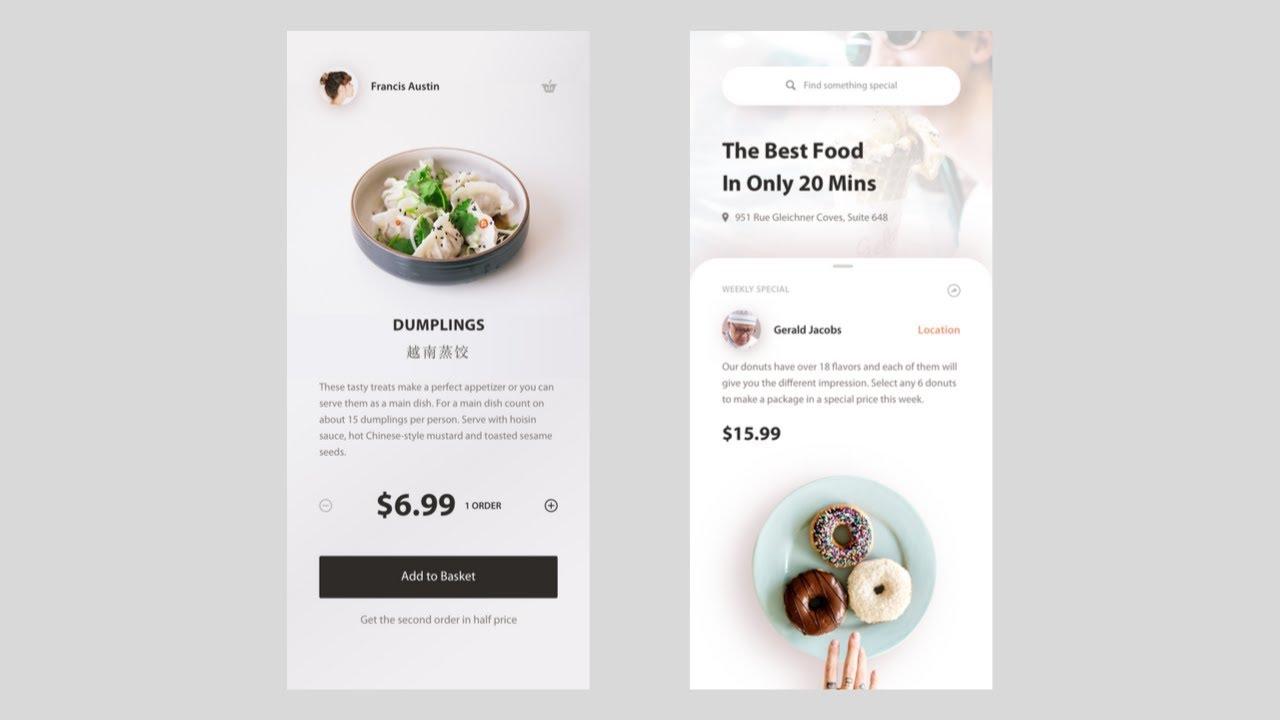 FlutterUI - Minimal Designs - Dumplings - Speed Code