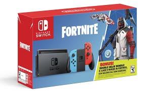 Fortnite Nintendo Switch Bundle Unboxing *Double Helix Skin*
