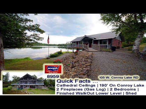 Properties For Sale On Lakes In Maine   105 W. Conroy Lake Waterfront Listing MOOERS REALTY #8959